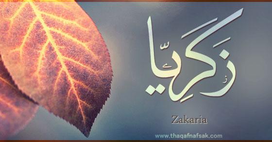 صورة ما معنى اسم زكرياء , صفات و معنى اسمك يا زكريا 0a9f7025d5a4e3988265437293e229d0