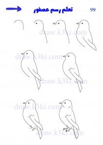 صورة عصافير رسم , صور رسومات عصافير للاطفال