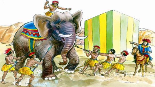 صورة قصة الفيل والكعبة , مثال للقصص الدينية يبكي