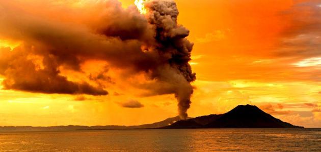 صورة بحث عن الزلازل والبراكين بالصور , صور توضيحية عند حدوث البراكين و الزلازل