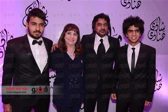 بالصور.. <p></p><br>نجوم الفن و المجتمع فحفل زفاف ابنه فيفي عبده
