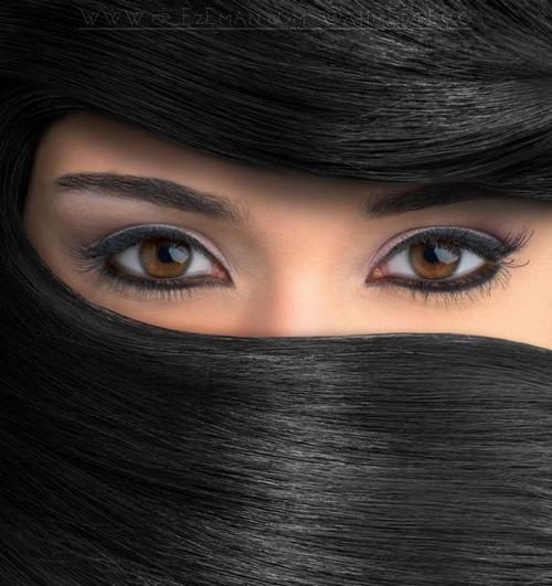 صورة صور عيون جميلة , صور لاجمل عيون مرسومة بالميكب الجاذب