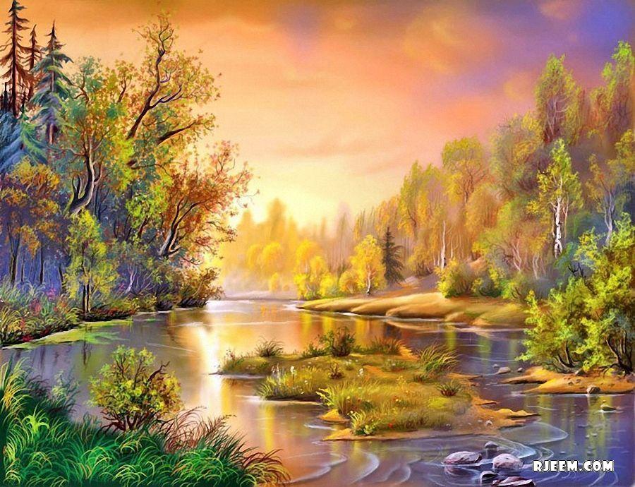 صورة اجمل اللوحات الفنية , اجمل تابلوهات مرسومة