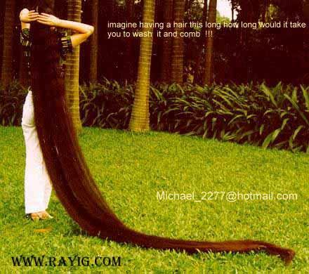 صور اطول شعر في العالم , صور اطول و انعم شعر في العالم