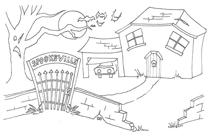 صورة رسم حديقة العاب , صور رسم حدائق شجعي طفلك يلونها