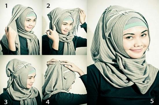 صورة الحجاب الخليجي , صيحات الحجاب الخليجي بابسط لفات