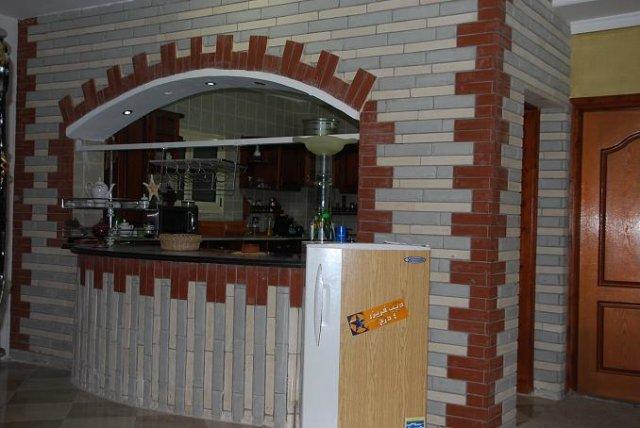 صورة مطبخ امريكي مفتوح على الصالة , صور ديكور مطابخ مفتوحة امريكي للشقق الواسعة