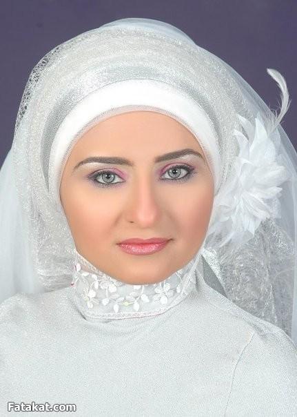 صورة فساتين افراح محجبات ولفات طرح , صور اجدد لفات حجاب للعرائس بالزفاف