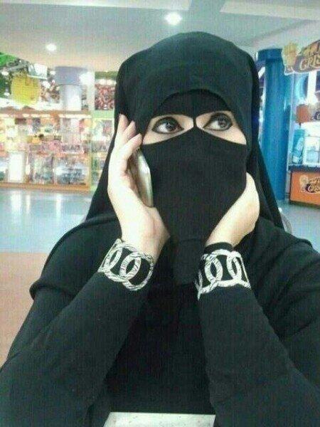 صورة صور منقبات , العيون الجميلة تحببك في النقاب