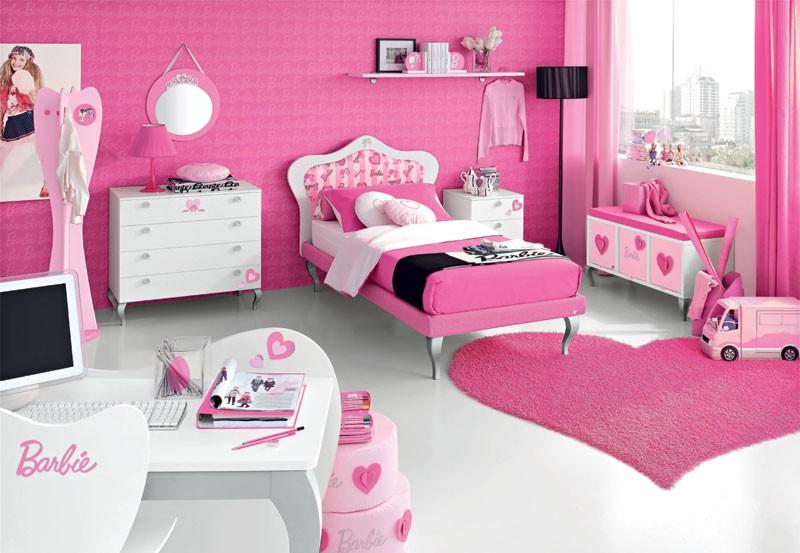 صورة دهانات غرف النوم باللون الروز , صور دهان وردي لغرف نوم بنوتات تهبل