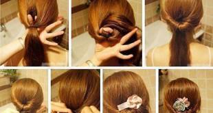 صورة تسريحات اطفال بالخطوات للشعر القصير , صور لتسريحة شعر للبنوتات الصغيرة للمدارس