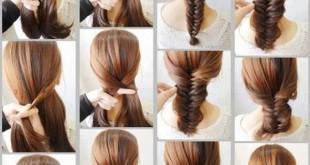 صور طريقة عمل الضفيرة للشعر , الضفيرة تحب الشعر الطويل