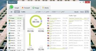 صورة برنامج لمعرفة استهلاك الانترنت , راقب معدل الانترنت لحضة بلحظة
