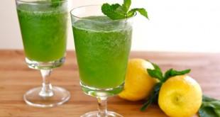 صورة عصير ليمون بالنعناع , طريقة عمل مشروب النعناع مع الليمون