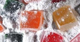 صورة حلوى الحلقوم , حلويات المولد الملونة