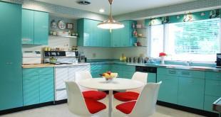 صورة الوان حوائط المطبخ , استغلي وقتك في تغيير لون جدران مطبخك