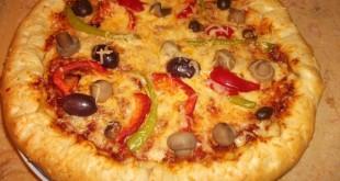 صورة طريقة عمل البيتزا بالجبنة البيضاء , طريقة سهلة للبيتزا بطعم الجبنة