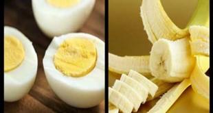 صورة اكل الموز مع البيض , اضرار تناول ثمرة الموز مع البيض