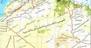 صورة هذة البلد من افضل البلاد العربية الشقيقة , خريطة الجزائر الطبيعية