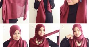 صورة ربطات الحجاب 2019 , المحجبة مميزة بجمال شعرها