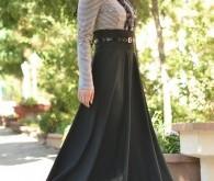 صورة ملابس تركية للمحجبات , اطلالة شيك جدا بملابس جديدة