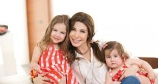 صورة نانسي عجرم وبناتها , صور عائلة نانسي عجرم وجمالها