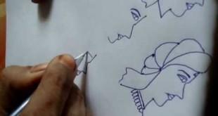 صورة تعليم رسم عروسة وعريس , طريقة سهلة وسريعة لرسم عروسة وعريس