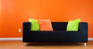 صورة دهانات باللون البرتقالي ودرجاته , صور ديكور دهان بدرجات البرتقالي