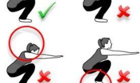 صورة حركات رياضية للرشاقة وشد الجسم للفتيات , سكوات للبنات