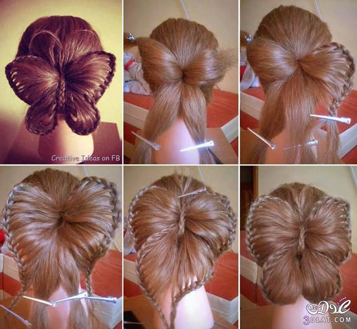 صورة اجمل تسريحات الشعر في البيت , الشعر للبنت يزيد جمالها