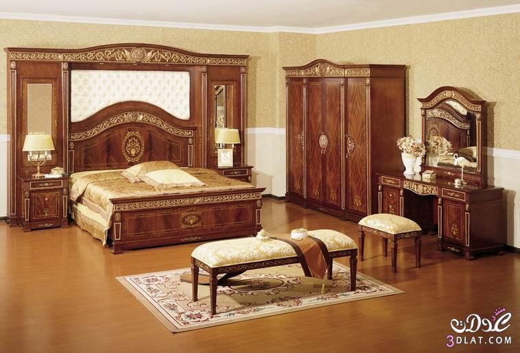صورة غرف نوم كلاسيك , صور احدث تصميمات غرف نوم كلاسكية